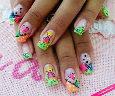 Fun nail art ideas | nail art | short nails | for summer