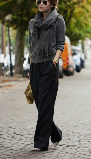 just a wardrobe of slouchy. But edgy and tailored.