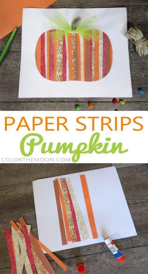 Papierstreifen-Kürbis: Ein einfaches Fall-Handwerk für Kinder!