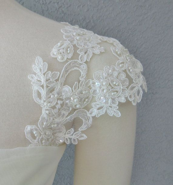 25 best ideas about wedding dress bolero on pinterest for Adding cap sleeves to a wedding dress