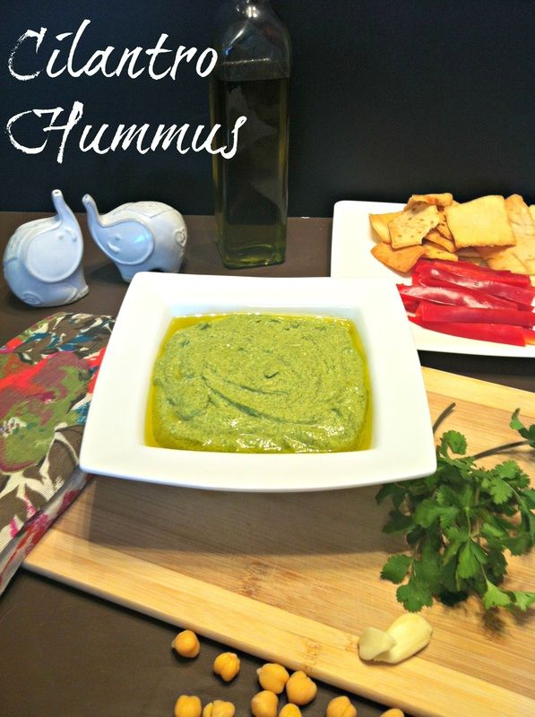 Writing about cilantro hummus is so funny to me.  Hummus is one of those things I have to remind myself I actually like.  For years, I just looked at it, turned my nose up, and would never try it. ...