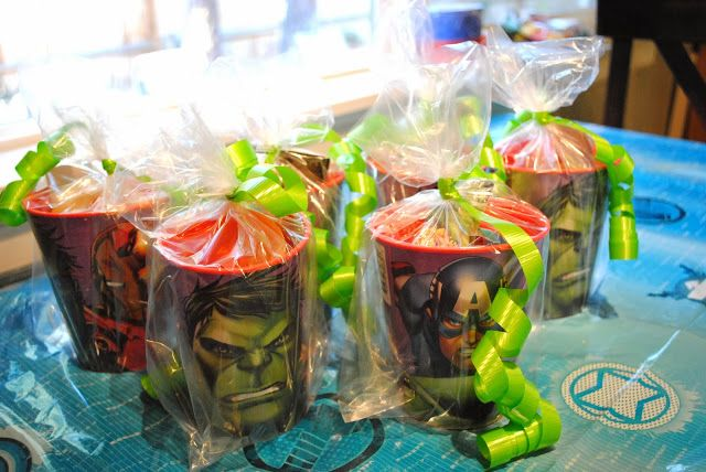 Avengers Party: easy gift bags4Th Birthday, Avengers Parties, Birthday Parties, Boys Parties, Boys Birthday, Superhero Parties, Avengers Birthday, Aiden Birthday, Andrew Bday