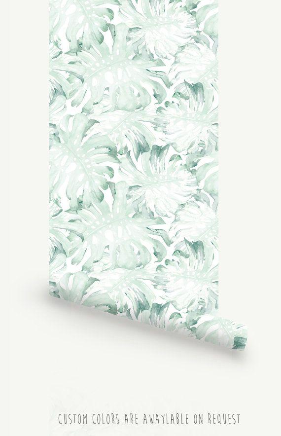 Selbstklebende Tapete Auf Rechnung : Moderne Palm Leaf selbst selbstklebende Tapete abnehmbar! F?gen Sie