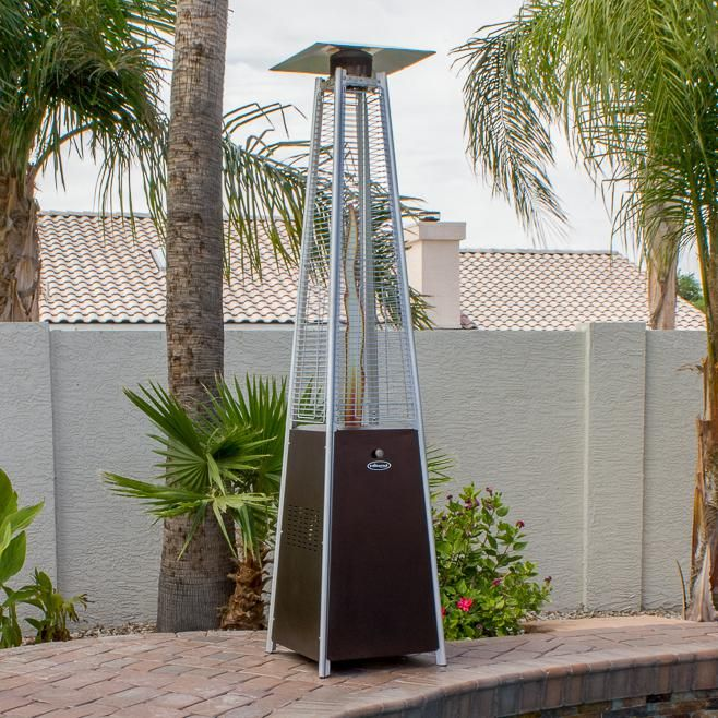 Az Patio Heaters 40 000 Btu Propane Gas Patio Heater Hammered Bronze Hlds01 Gthg Patio Heater Gas Patio Heater Patio