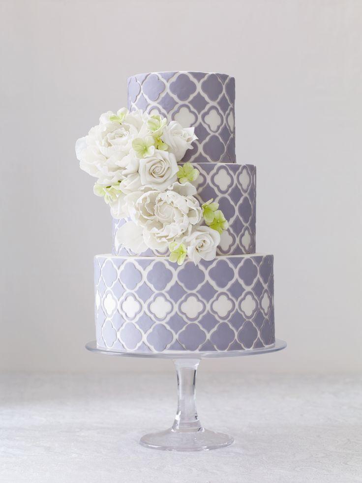 Modern, regal wedding cake