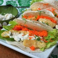 Fish Tacos with Homemade Tartar
