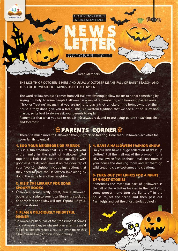 2ab949302a4d01f02de757bdd61ace9e--open-book-newsletter-ideas October Clroom Newsletter Template on