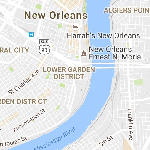 System Map Street car and bus routes in New Orleans
