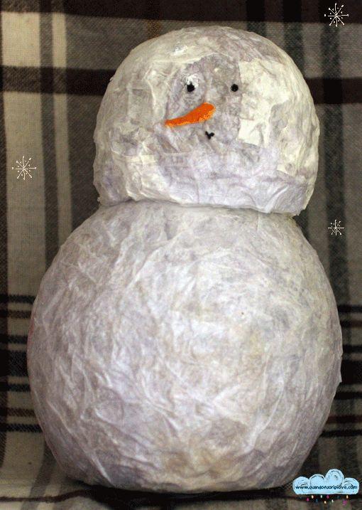 Quandofuoripiove: Regali di Natale fai da te per bambini: il pupazzo di neve dal cuore luccicante