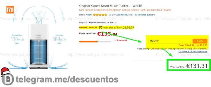 Purificador de aire Xiaomi por sólo 131 - http://ift.tt/2h88gvK