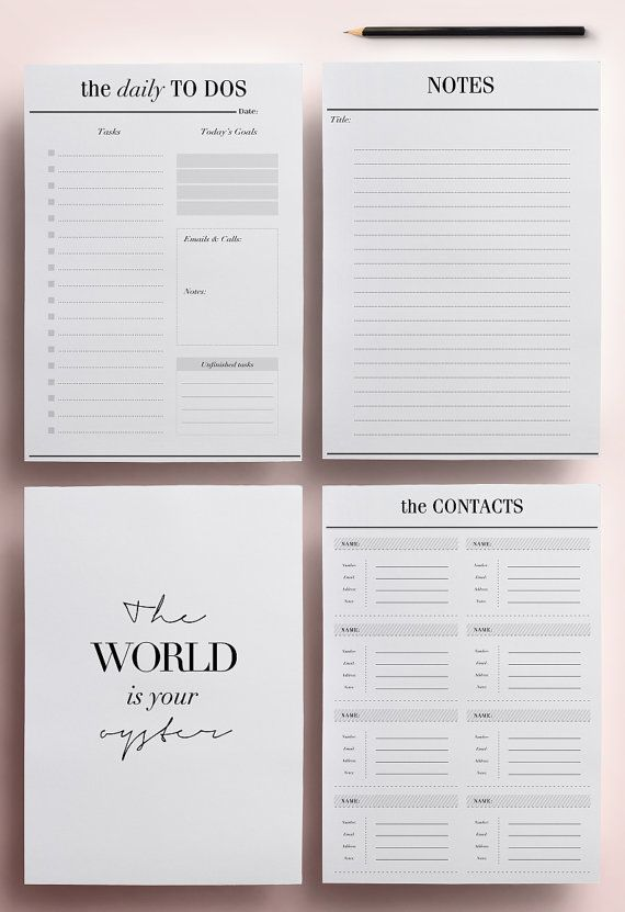 Get organized in style with this modern 2016-2017 Printable Planner. This planning kit will fulfil all your daily planning needs for the year to come, whilst remaining beautifully designed with its minimalist design. This pack is perfect for everyone who wants their new year to be beautifully organised, effective and productive, with space to write down your important dates, daily to dos, project deadlines and much more!  ════════════════ Features: ════════════════  • Number of unique pages…