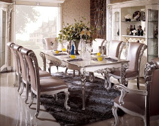 Silver Dining Room In Italian Style   Top And Best Italian Classic Furniture