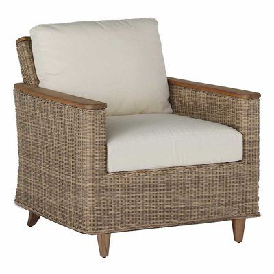 Summer Classics Pacific Spring Lounge Patio Chair with Cushions Color: Melange Linen Texture Stone