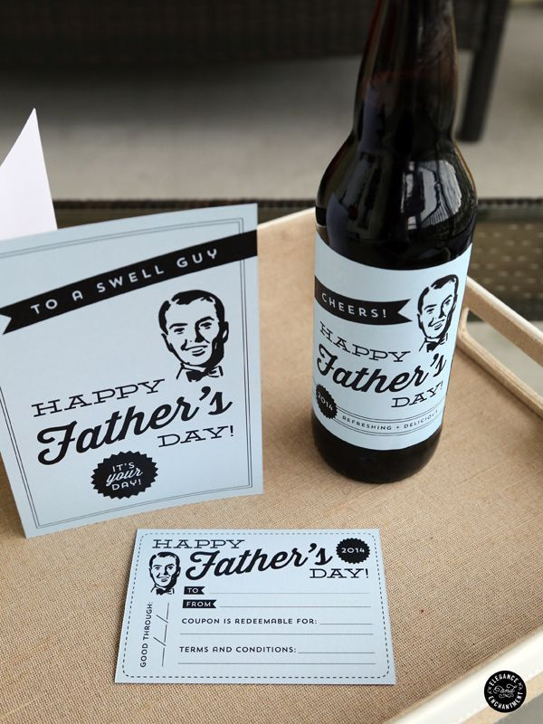 Father's Day Printable Card   Father's Day Printables  Retro Happy Father's Day   TodaysCreativeLife.com