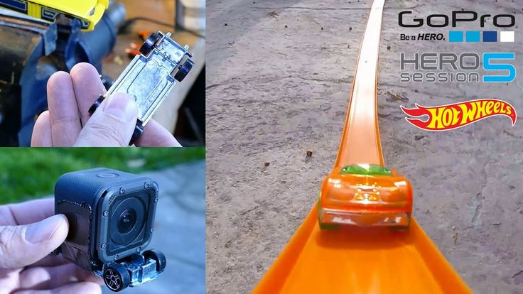 Fun Making a Camera Car with a GoPro Session 5 and Hot Wheels, testing i...