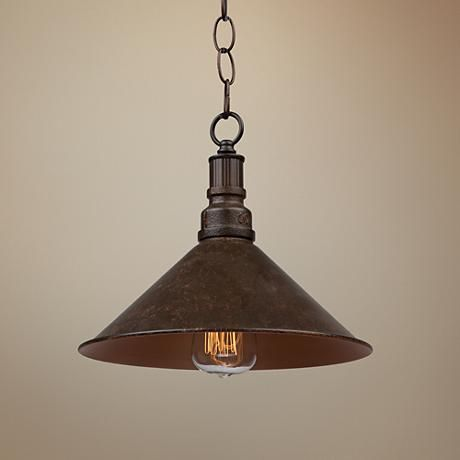 396 best pendant lighting images on pinterest pendant lamp artcraft revival 11 wide rust metal rustic mini pendant aloadofball Gallery