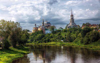 壁紙をダウンロードする 大聖堂の修道院, tver州, torzhok, ロシア