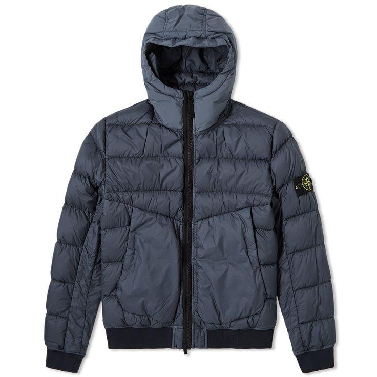 Stone Island Garment Dyed Short Down Jacket (Marine)