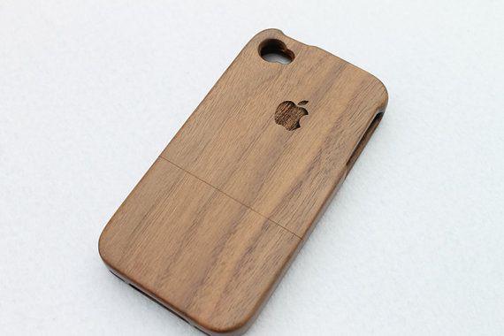 Legno iPhone 4 Case in legno iPhone 4s caso - Logo Apple iPhone 4 caso