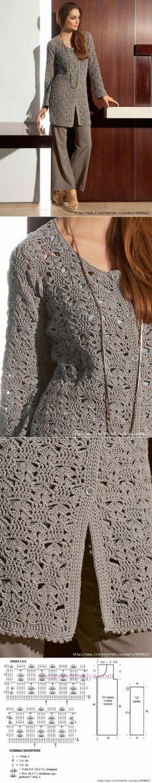 Удлиненный кардиган крючком от FILATI.
