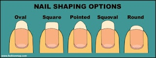 Bee Polished: Nail Shaping Options...best one is square you round,oval,and or point your nails they become weak. (just an  FYI)
