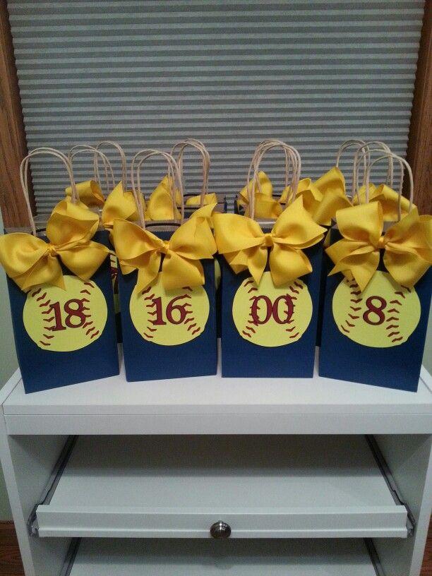 Softball gift bags