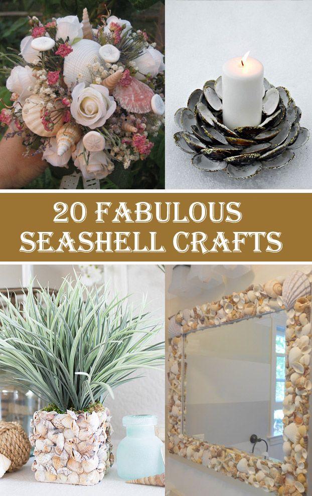 20 Fabulous Seashell Crafts