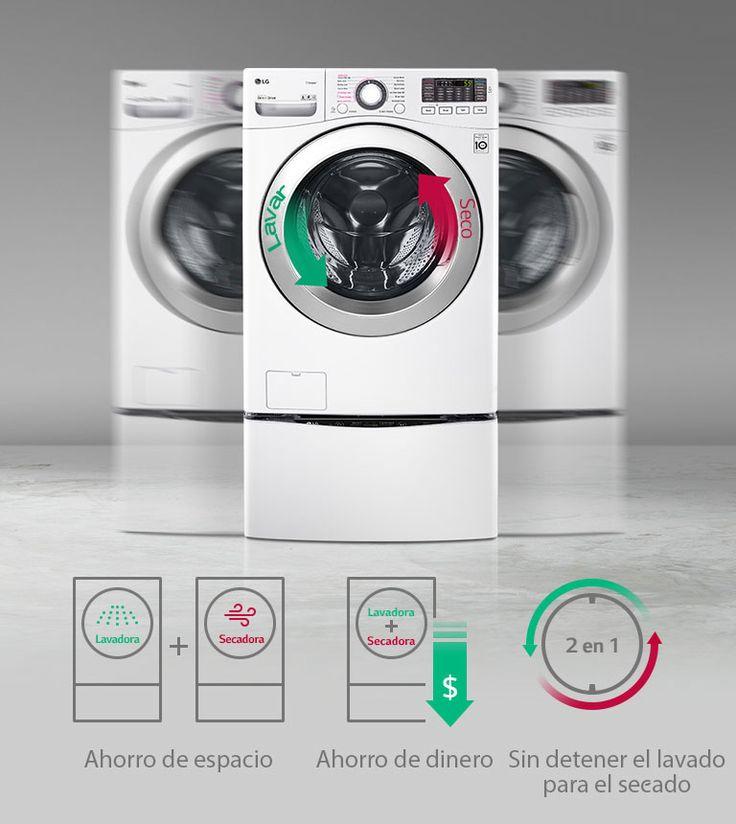 Lg Lavasecadora Carga Frontal 18 Kg Blanca
