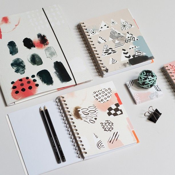 Anna is fond of the abstract patterns and designs of these notebooks. A5-sized notebook, price DKK 14,66 / SEK 19,98 / NOK 20,98 / EUR 1,98 / ISK 389 / GBP 2.97