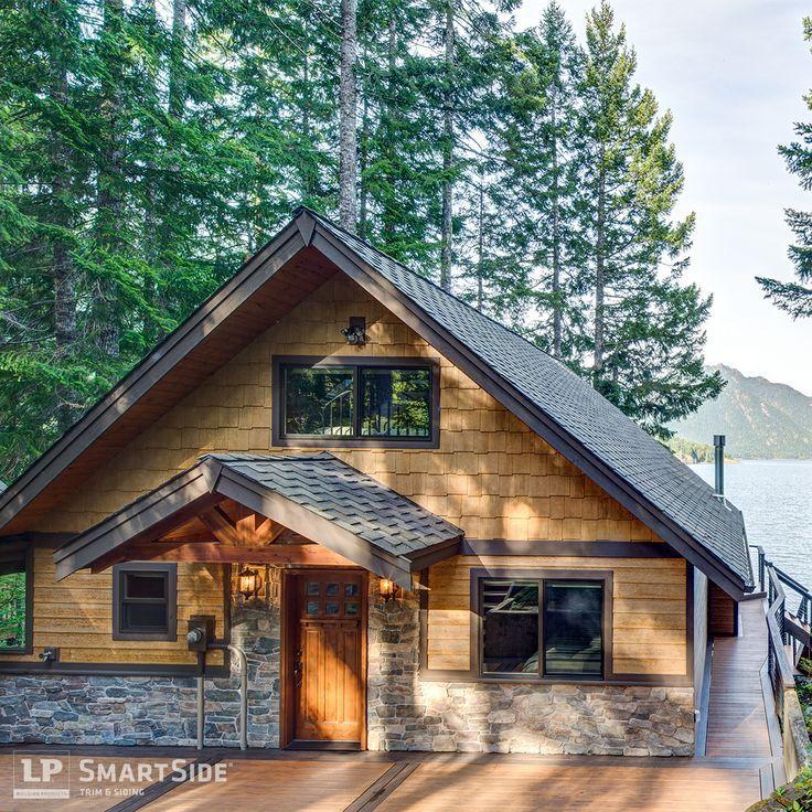 Best Cabin With Rock Cedar Shingle Siding Google Search 400 x 300