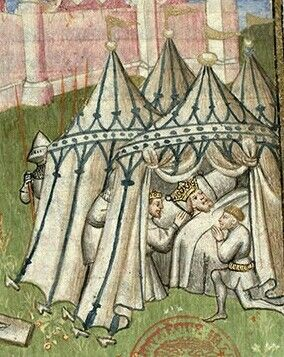 Gothic painted tent