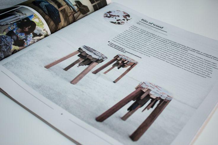 """Drewniane kawałki z tartaku materiałem na meble? Projekt """"Bits of Wood"""" pokazuje, że z pozornie niepotrzebnych odpadków też można wyczarować niezwykłe przedmioty! O projekcie piszemy w 3. numerze Magazynu """"ŁN""""."""