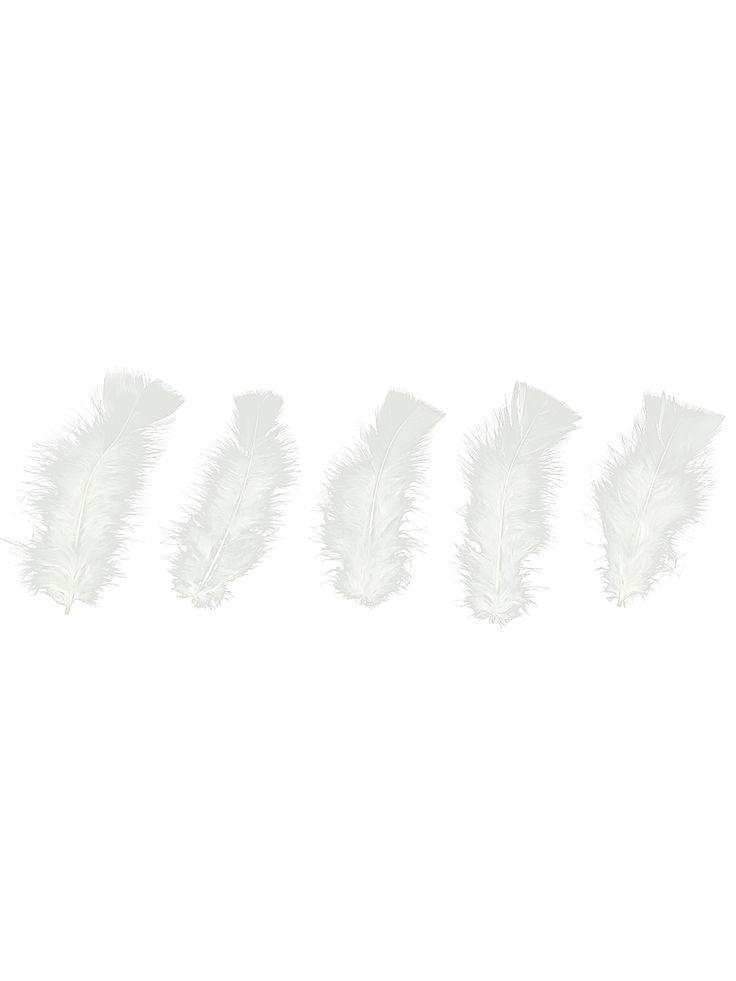100 witte veren: Deze verpakking van 21 x 16 cm bevat ongeveer 100 synthetische veren. De veren zijn wit en meten ongeveer 15 cm lang.De witte veren zijn ideaal als tafeldecoratie of versiering voor Valentijns...