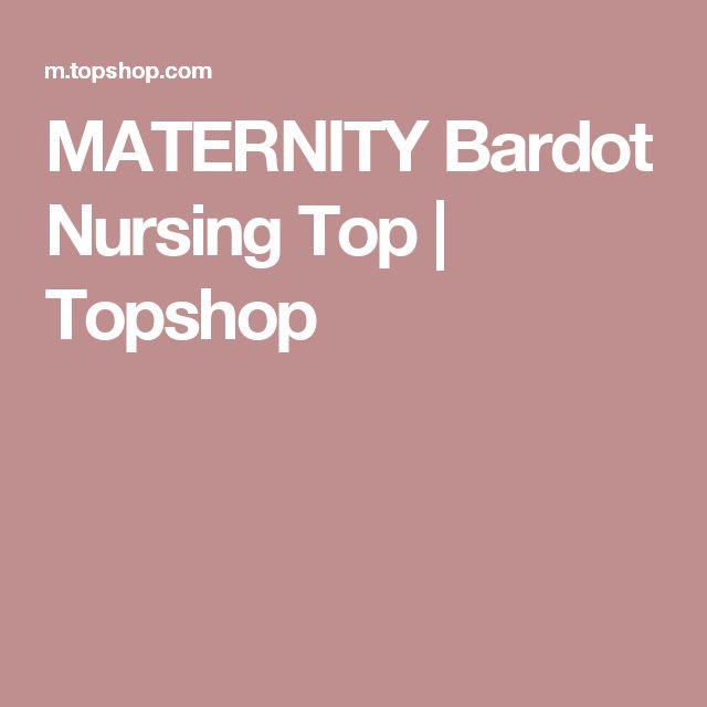 MATERNITY Bardot Nursing Top | Topshop