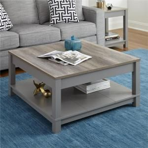 Best Altra Furniture Carver Gray Sonoma Oak Coffee Table 400 x 300