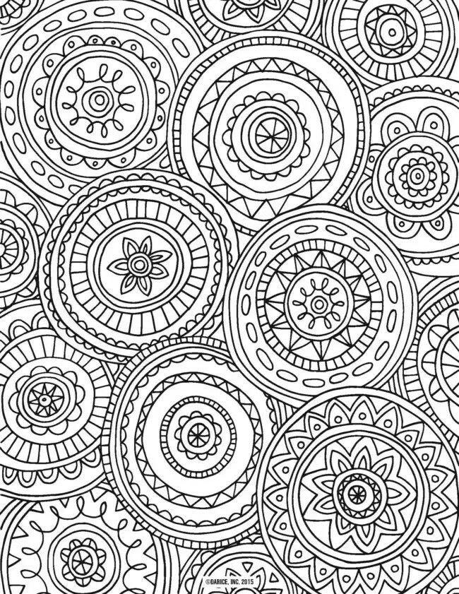 93 mejores imágenes de mandalas en Pinterest | Libros para colorear ...