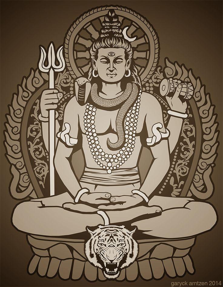Mahadeva Shiva by GaryckArntzen.deviantart.com on @DeviantArt