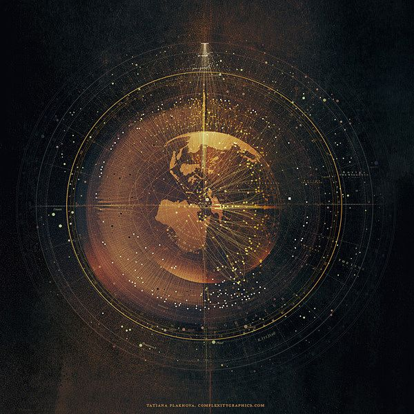 The Star Chart, universal symbol used by the Resistance. Symbol of Nayan's inter-connectivity, as well its shared astrological culture. [Artist: Tatiana Plakhova]