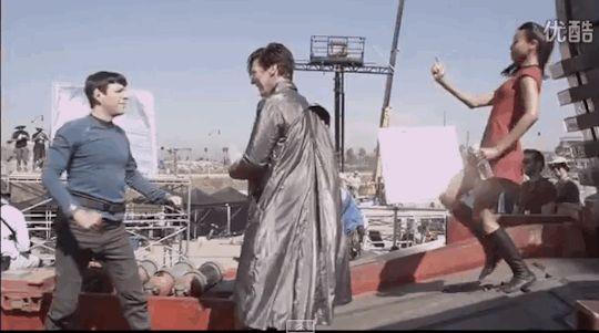 Benedict Cumberbatch (Khan Noonien Singh), Zoe Saldana (Nyota Uhura), Zachary Quinto (Spock) || Star Trek AOS, Cast