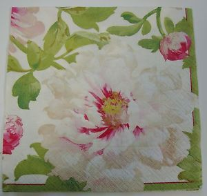 English Flower Napkins Big Ivory Flower | eBay