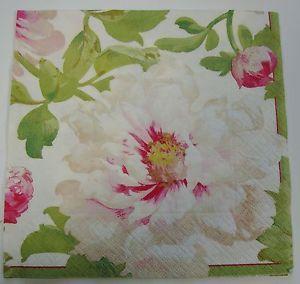 English Flower Napkins Big Ivory Flower | eBay