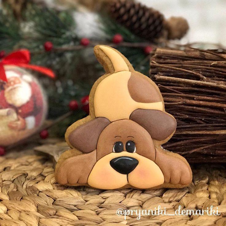Год собаки  это мой год! Он обязательно будет добрым! ❤️ А как Вам этот малыш?! #имбирныепряники #имбирныепряникиназаказ #имбирныйпряниккраснодар #годсобаки2018 #новогодниепряники #имбирныйпряник #краснодар