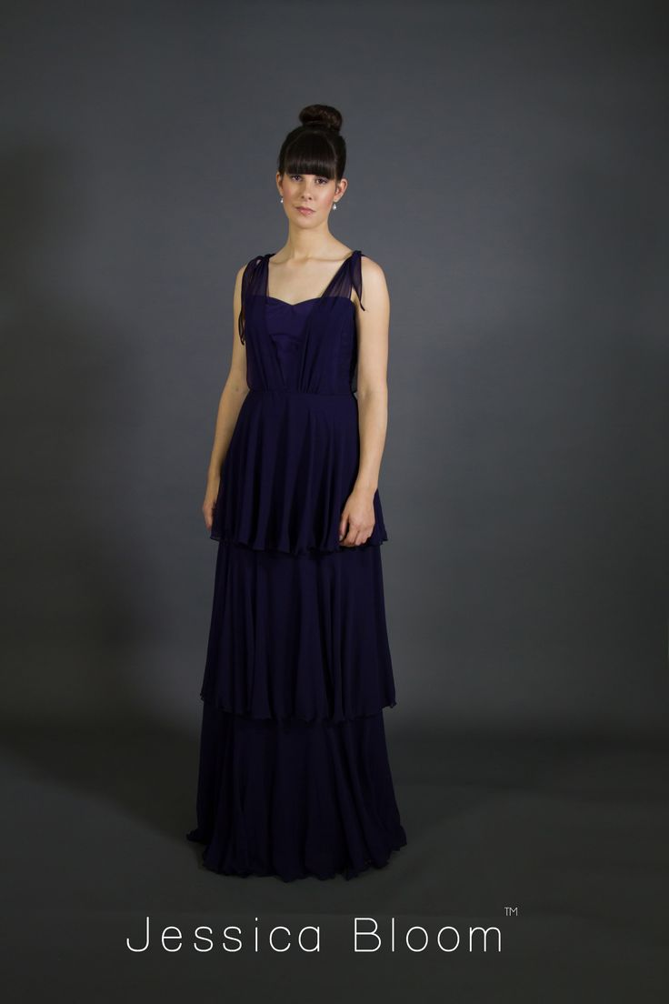 Jessica Bloom Milly Gown in Navy
