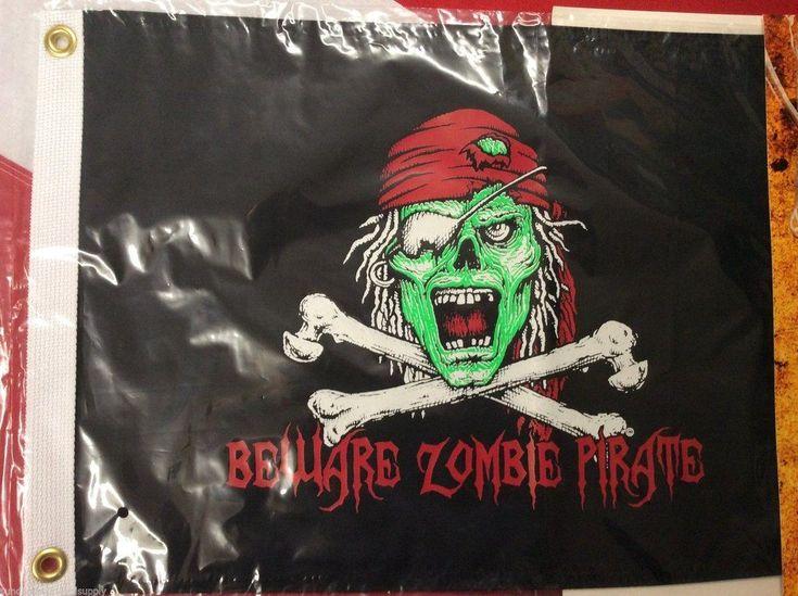 Beware Zombie pirate flag scuba dive equipMENT novelty CHRISTMAS GIFT FUN 12x18 #scubadivingequipmentwatches
