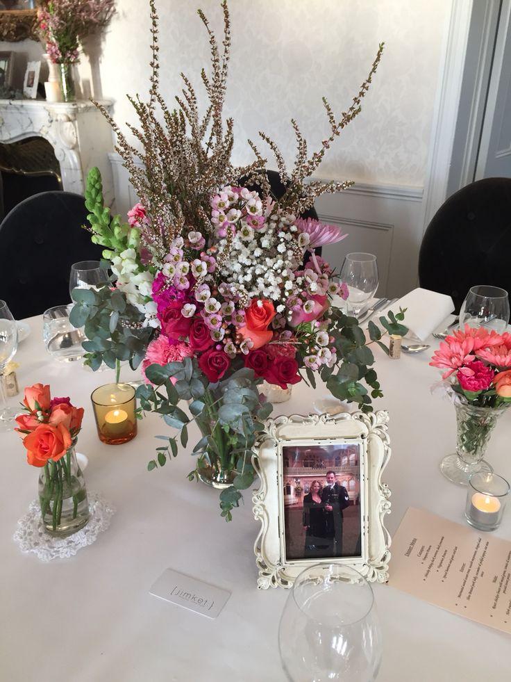 Floral love wedding centerpiece