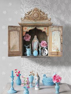 This is a #Catholic #girl thing. lol. :)  Pip Studio shrine. Our Lady. Had one like this when I was a girl.