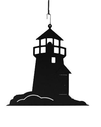 Wrought Iron Lighthouse Decoration Hanging Silhouette