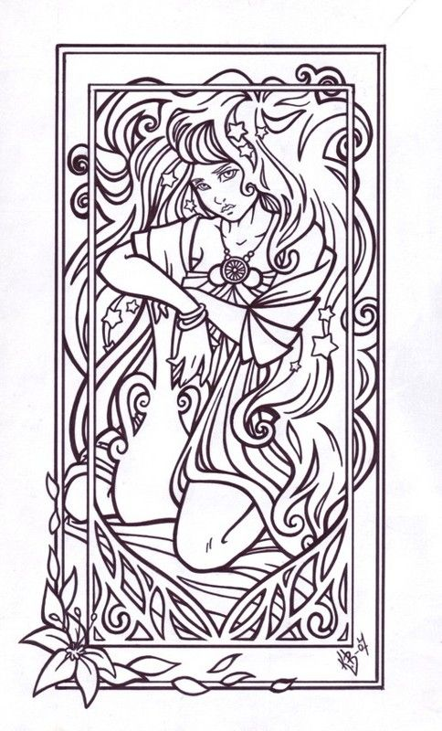 aquanus coloring page aquarius lineart by blueundine on deviantartcolor