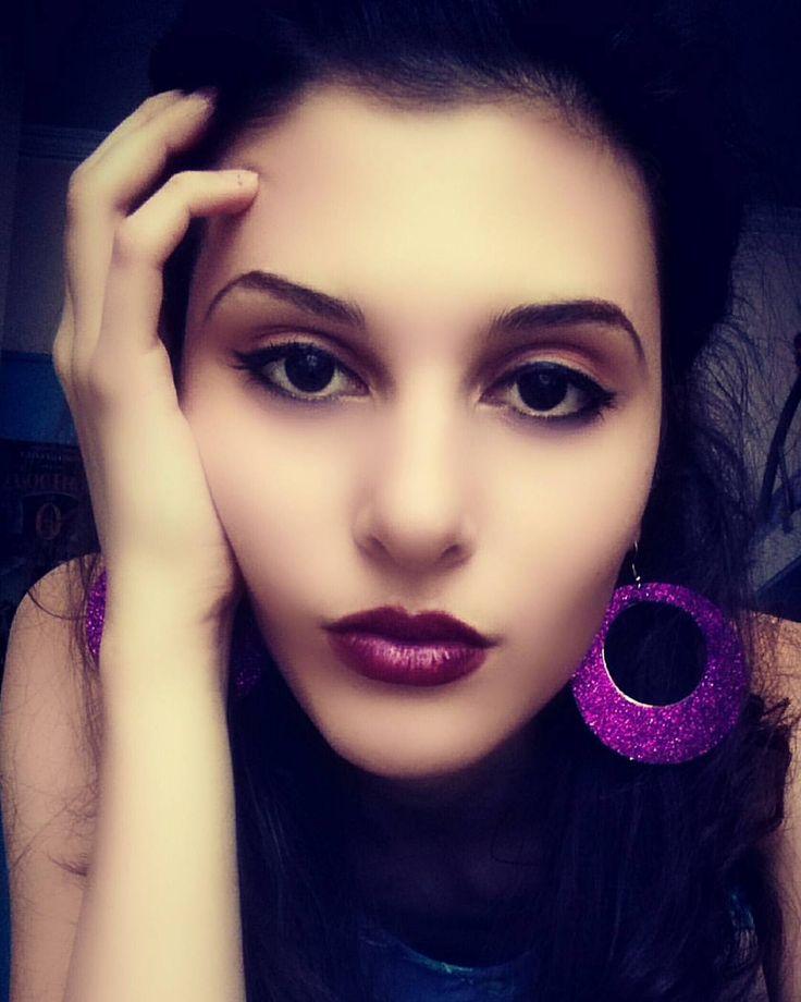 "53 Likes, 1 Comments - Boyana Avdjieva (@boyana.avdjieva) on Instagram: ""Always mood ..🔨 #blackeyes #purplemood #purpleeverything #promqueens and #hasbeens #bitchrestingface"""