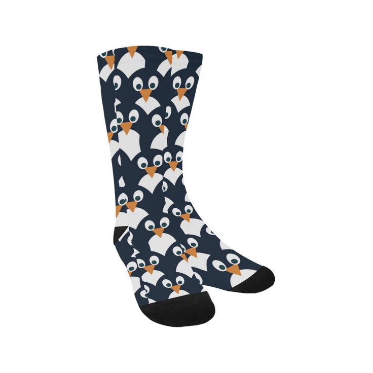 Penguin Pattern Knee-High Socks